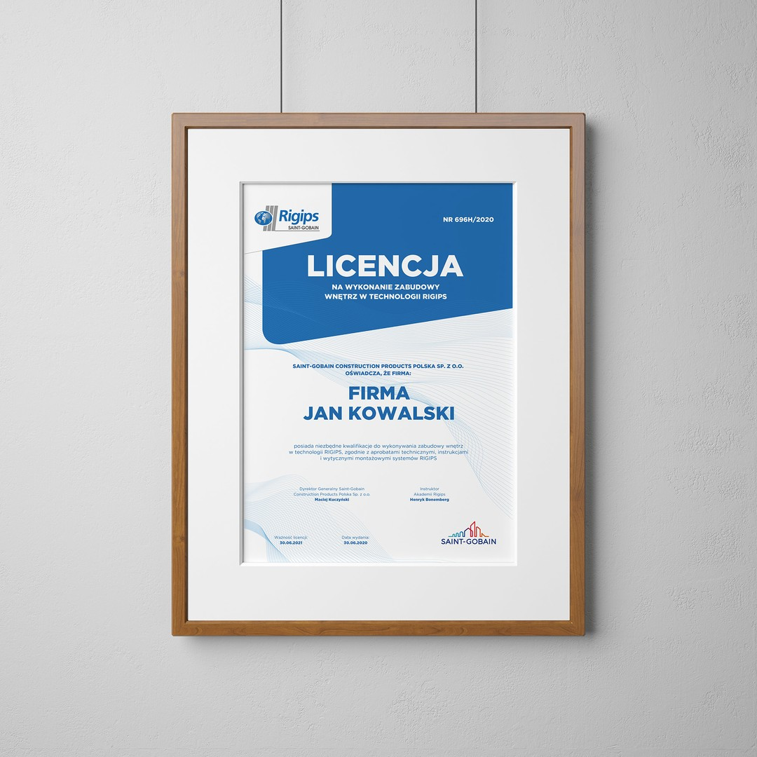 Licencja Rigips