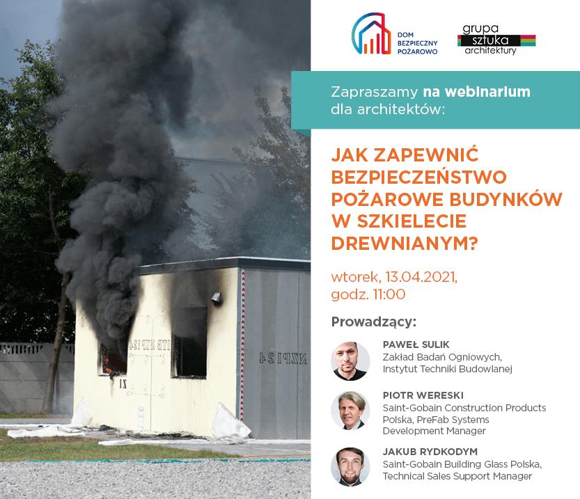 """Webinarium """"Jak zapewnić bezpieczeństwo pożarowe budynków w szkielecie drewnianym?"""""""