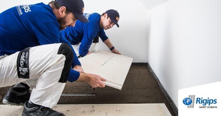 Rigips- Jak wykonać podłogę z suchego jastrychu instrukcja
